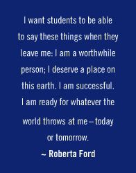 I'm not a teacher but I'd like to think that anyone who wanted to learn something from me or be inspired by me or just hang out with me would feel this way!