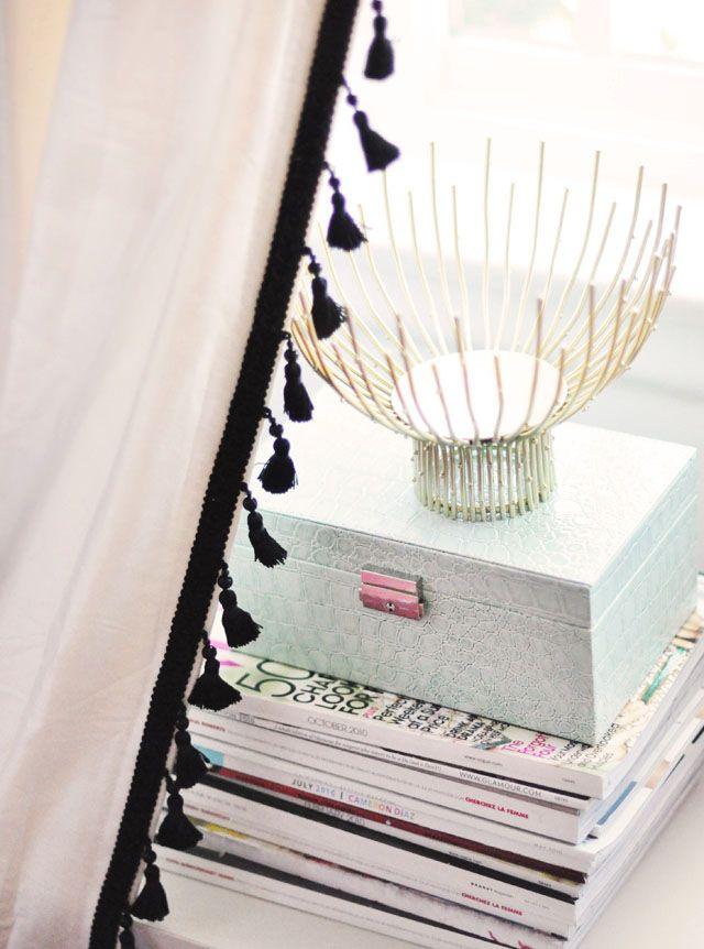 custom DIY tassel curtains from ...Love Maegan