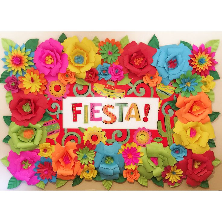 Mexican fiesta theme paper flower backdrop mexican for Art decoration pdf