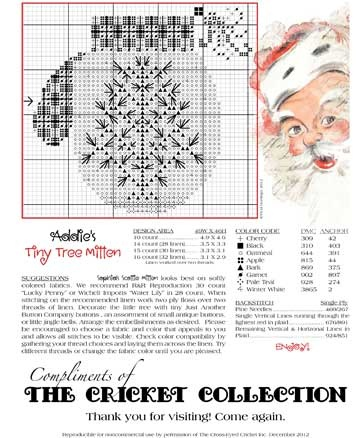 The Cricket Collection! - Our Gift to You!  (2 designs - one with tree and one with Scottie dog)