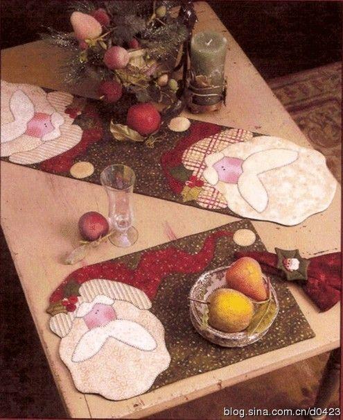 [Riservato] Share --- cartapesta Babbo Natale Runner & Tovagliette