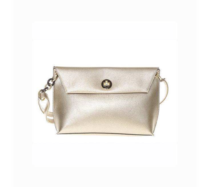 Zlatá kabelka s klopou | modino.cz #modino_cz #modino_style #style #fashion #vanoce #darek #promamku