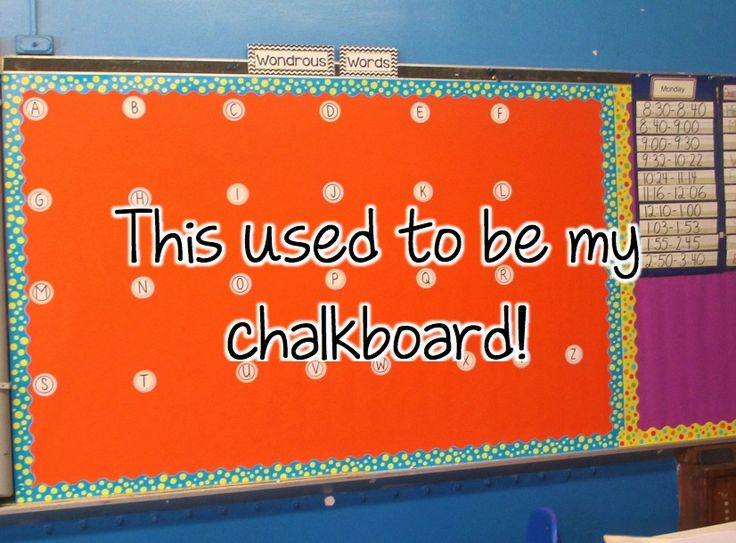 Classroom DIY: New Use for Your Old Chalkboard