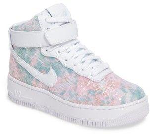 Women's Nike Air Force 1 Upstep Hi Lx Sequined High Top Sneaker