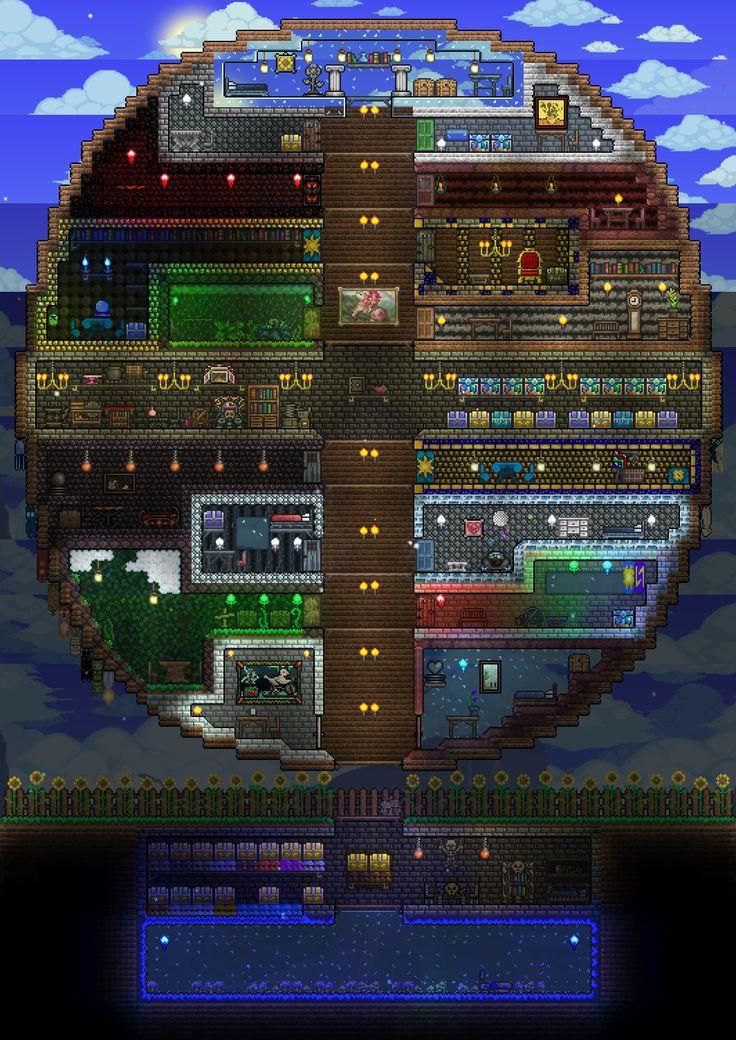 Terraria Npc House Ideas: Most Design Ideas Terraria House Design Tips Pictures, And