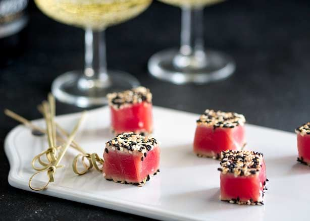 These Seared Sesame Tuna Bites are so simple, so delicious and so beautiful. If you need a party nibble then these are the perfect quick canapé.
