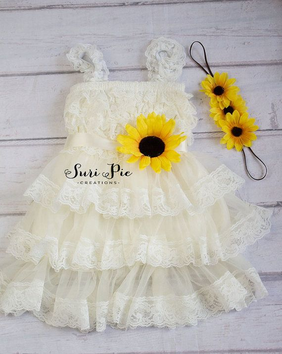 Hey, I found this really awesome Etsy listing at https://www.etsy.com/listing/234925751/rustic-sunflower-flower-girl