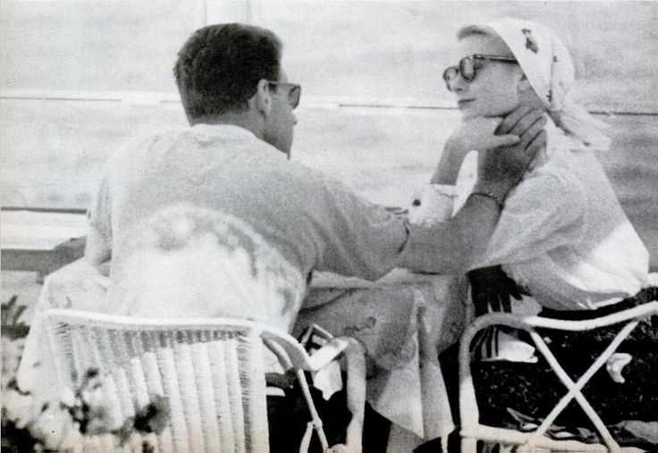 Grace Kelly and Jean-Pierre Aumont in Cannes - 1955
