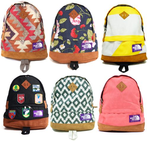 The North Face purple label backpacks