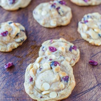 Cranberry & White Chocolate Chip Cookies - Very good and easy to make.