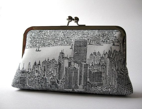 Free Shipping New York city day light clutch/ purse, Bag Noir, Evening purse, Formal clutch, Handmade in Ireland, Bag Noir on Etsy, $68.18 CAD