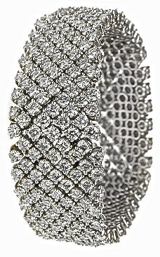 Platinum All Diamond Flexible Mesh Bracelet | You can see the Rest of the Outfit and my Comments on this board. - Gabrielle