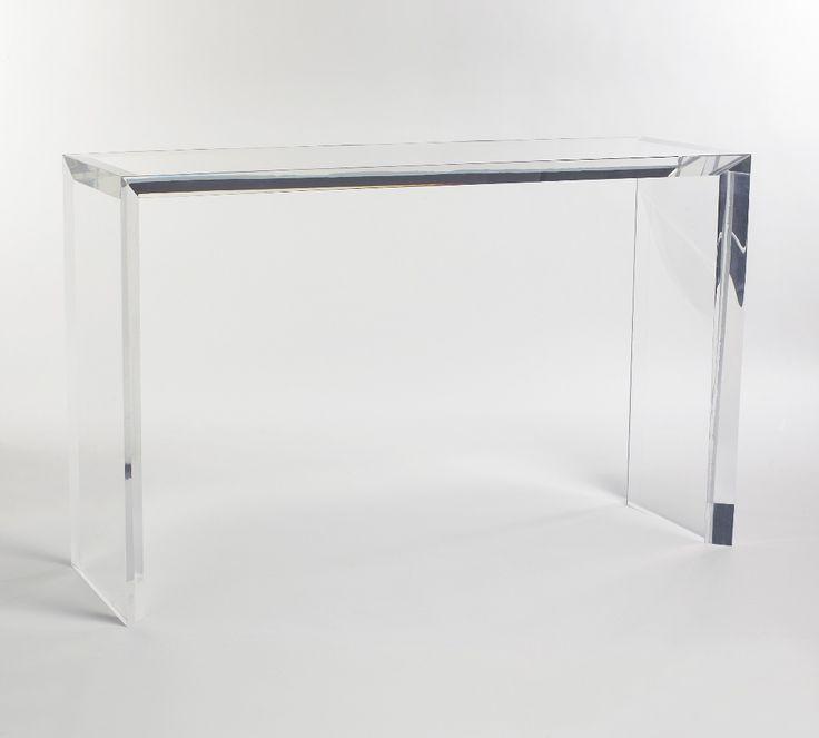 acrylic console table amazon ltd blade thick clear australia ikea