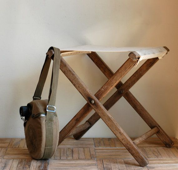 rustic camping stool  i recently bought one a an estate sale:)