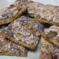 Gluten Free Seeded flatbread crackers | Favorite Gluten Free Recipes ...