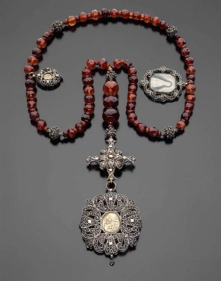 17th century, faceted amber rosary. Inspiration