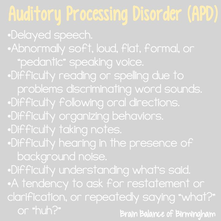 17 best images about auditory processing disorder on for Motor planning disorder symptoms