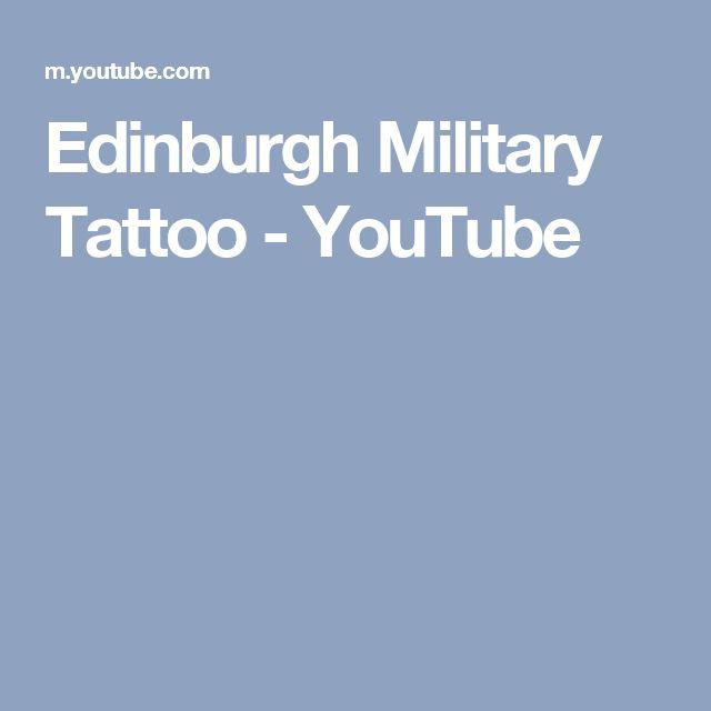 Edinburgh Military Tattoo - YouTube