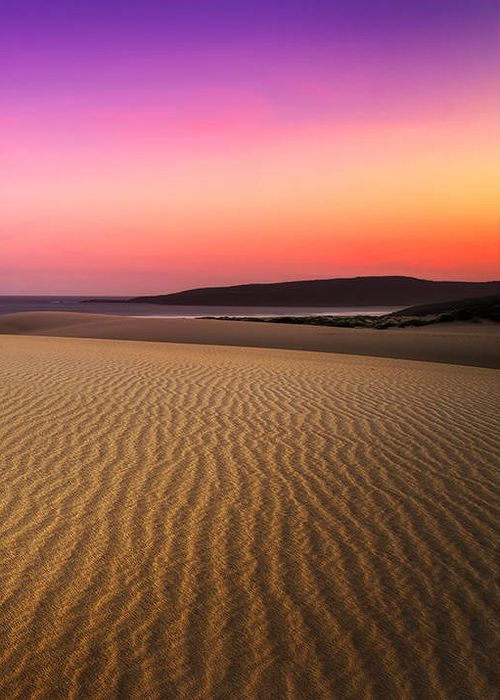 Colourful sunset, Samurai beach to One mile beach pano, Anna Bay,New South Wales, Australia
