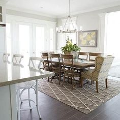 Eat In Kitchen, Transitional, dining room, Davies Development
