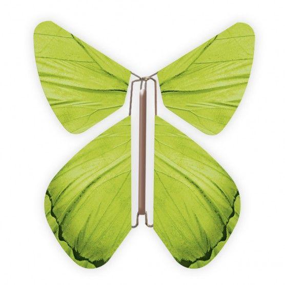 Un papillon magique vert s'envole de vos faire-part dès l'ouverture de l'enveloppe