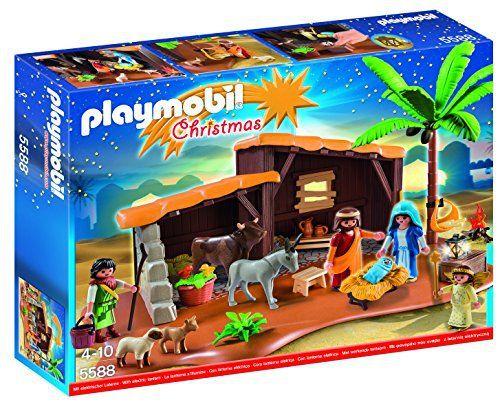 Playmobil – 5588 – Jeu De Construction – Crèche De Noel: Cette jolie crèche Playmobil est un cadeau idéal pour les fêtes de Noël. Crèche…