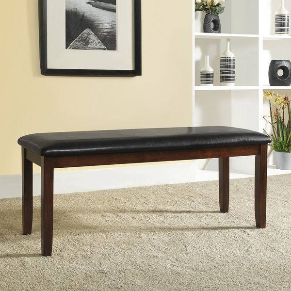 TRIBECCA HOME Winsford Burnished Cherry 48-inch Cushioned Transitional Bench - Overstock™ Shopping - Great Deals on Tribecca Home Benches