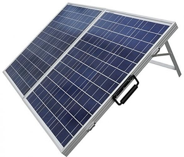 100Watt Folding PV Solar Portable Kit 2x50W Panel 12V Camping Festival Set Boat #AllForYou