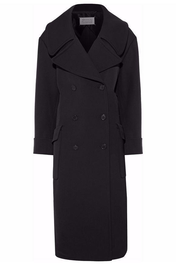 Double-breasted wool and cotton-blend twill coat | MAISON MARGIELA | Sale up to 70% off | THE OUTNET