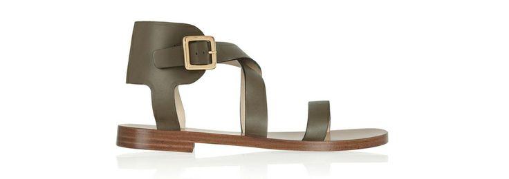 Chloé http://www.vogue.fr/mode/shopping/diaporama/shopping-sandales-du-printemps-ete-2014/19097/image/1007783#!chloe-cuir-kaki-shopping-sandales-ete-2014