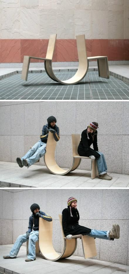 Swingers - The Creative rocking chair was designed by Cho Neulhae and Jaebeom Jeong, to shorten the distance between people.