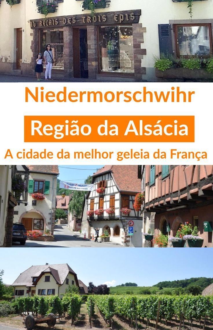 Niedermorschwihr na #Alsácia, a cidade da melhor #geleia da #França pela chef de confitures artesanais Christine Ferber.