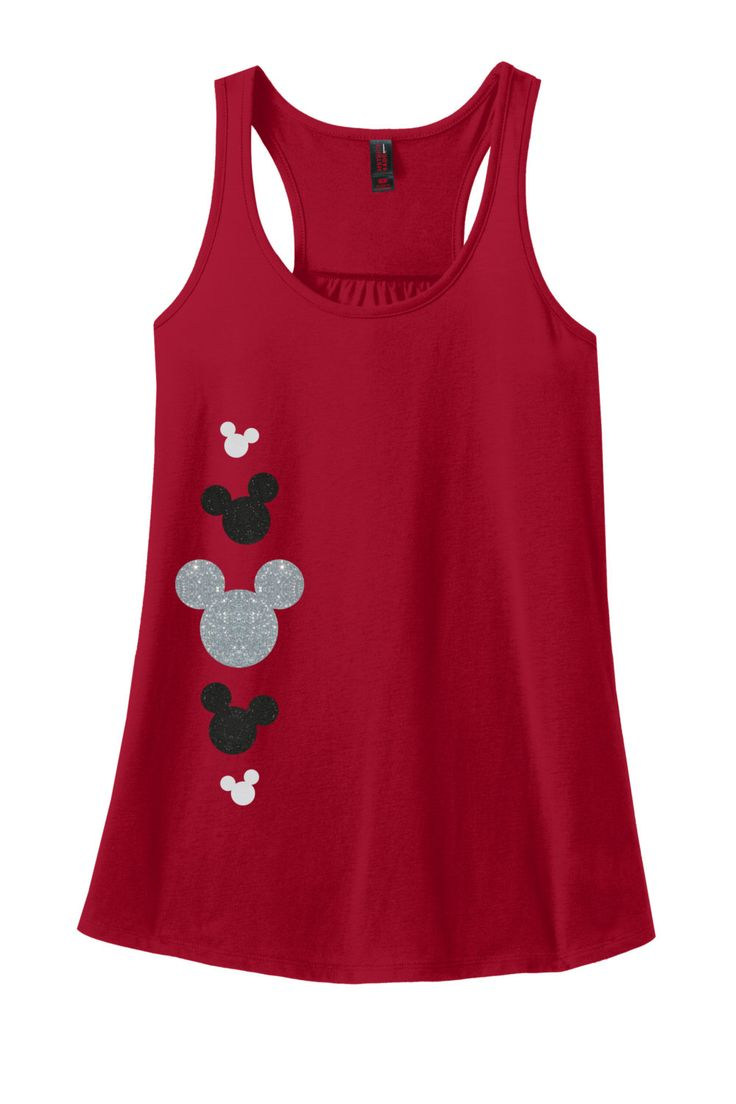 Glitter Mickey Mouse Adult Racerback Tank Top
