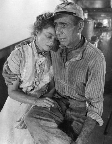 Katharine Hepburn & Humphrey Bogard in 'The African Queen'