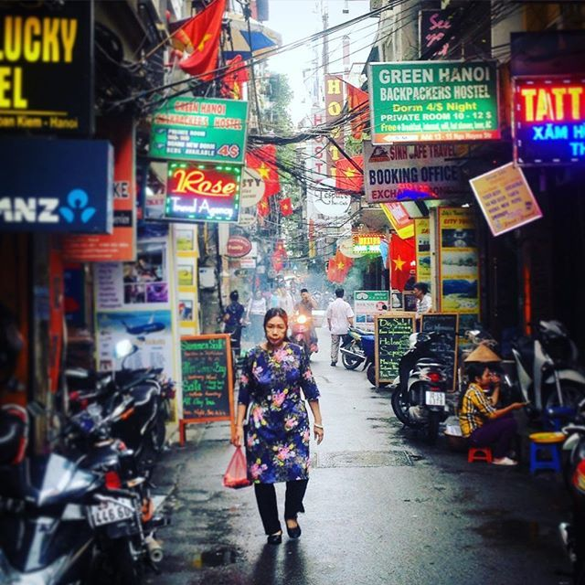 After a rainnig day in Hanoi Old Quarter #vietnam #hanoi #asia #travel #travelgram #streetphotography #igtravel #backpacking