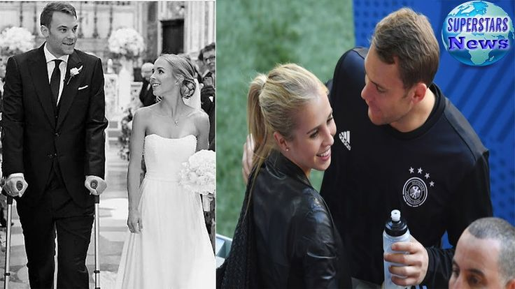 MANUEL NEUER walked down the aisle with his crutches as he married Nina ...
