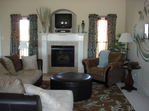 astounding teal brown living room ideas | Brown Teal Living Room - Zion Star