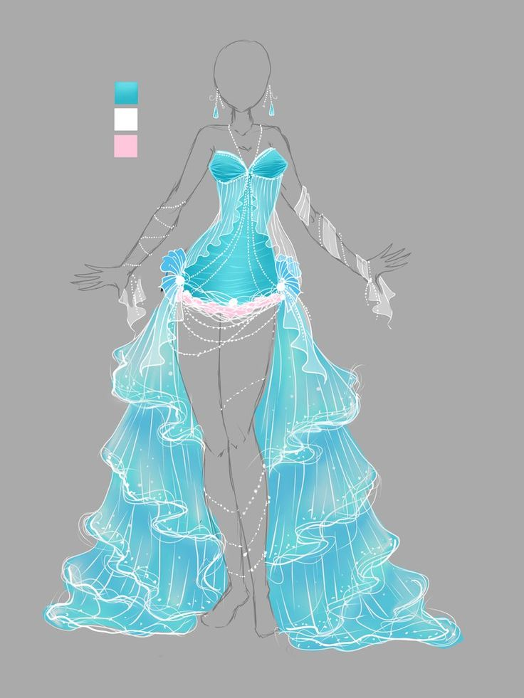 Custom for Hope you like it! ^-^ ---------------------------------------------- The theme this time is Magical Girl! The commissioner asked for an ice magical girl dress for her OC, and I have to s...