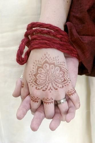 handfasting and henna: Handfasting was a common marriage ritual in medieval Europe.