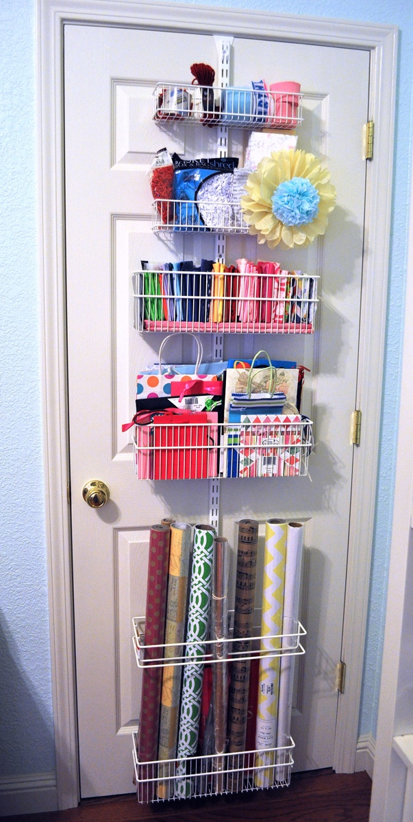 Must have wrapping paper station!!! Perfect for my craft closet!!!=)