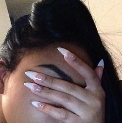 French manicure stiletto nails