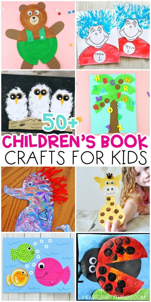 50 Children S Book Crafts In 2020 Book Crafts Preschool Crafts Summer Crafts For Kids