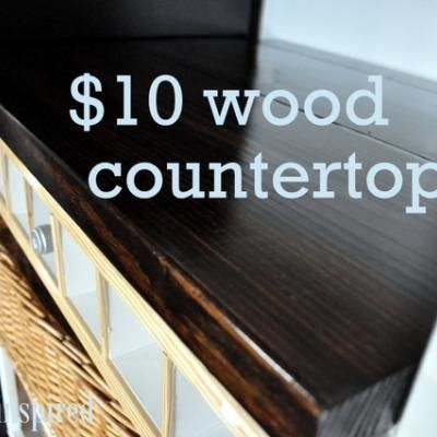 $10 Wood Countertop {tutorial} for my craft table...but maybe more rustic