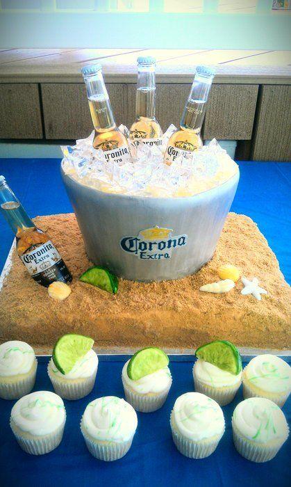 Corona in Ice Bucket Cake  Cake by CakeAdoration