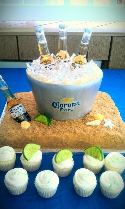 Corona in Ice Bucket Cake I want to make this for some ones bday some day! Awesome!
