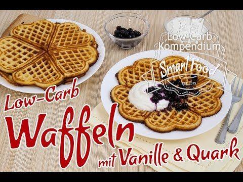 Low-Carb Waffeln mit Vanille und Quark - Lecker & fluffig