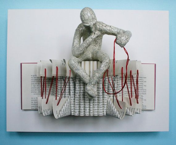 Thinker with Needle Original Sculpture by Kenjio on Etsy, $350.00