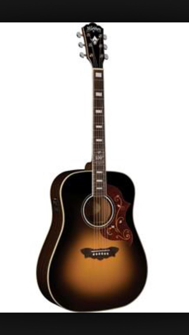 Washburn acoustic guitar, limited edition. In a week it's mine :-)