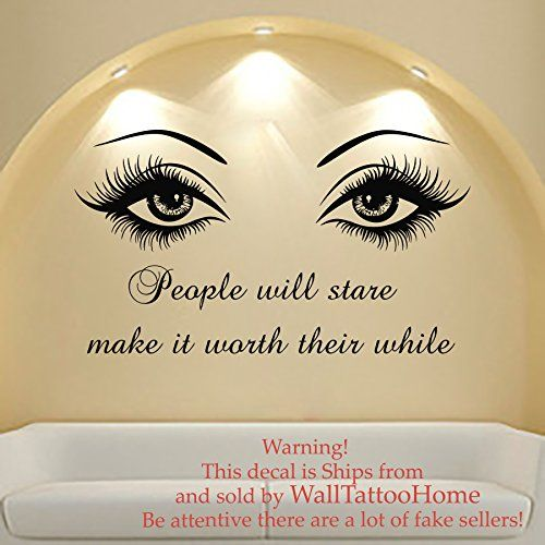 39 best MY LOVELY LASHES images on Pinterest | Lash room, Wall decal ...