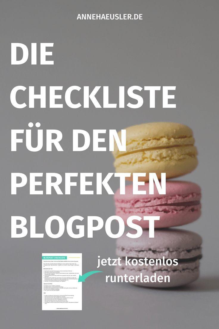 Blogpost Checkliste überprüfe Diese Punkte Bevor Du Auf